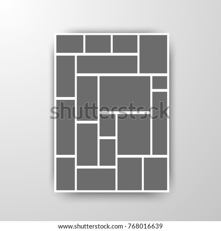 Templates collage frames for photo or illustration. Vector.