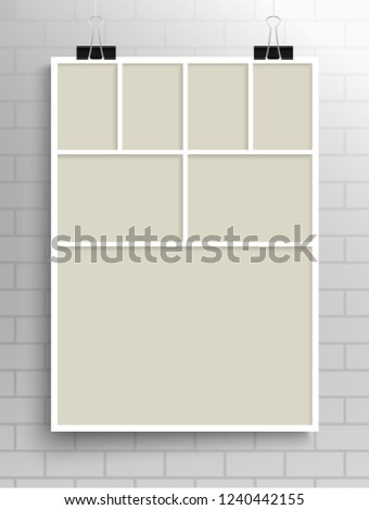 templates collage seven frames