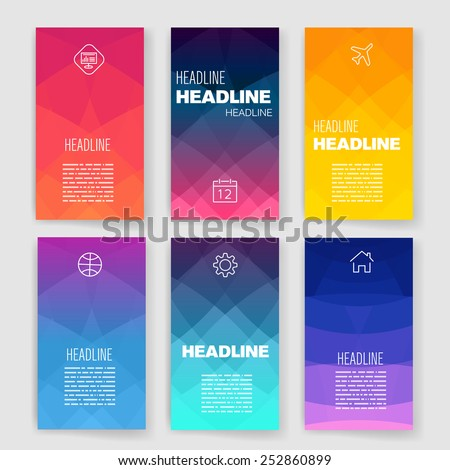 Shutterstock Templates. Design Set of Web, Mail, Brochures. Mobile, Technology, and Infographic Concept. Modern flat and line icons. SaaS, web app design template. Mobile interface. UI template. Web UI app design.