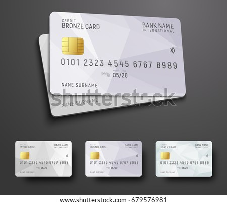 Bank cards templates download free vector art stock graphics images templates for design of a credit debit bank card with a white polygonal abstract accmission Image collections