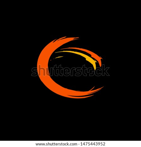 Templates for logos, icons, symbols, emblems. simple logo shape with a luxurious impression for a company emblem with a black background. vector