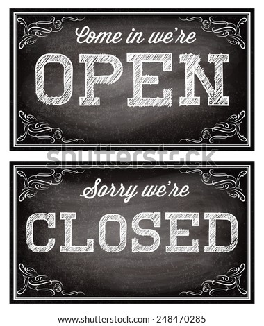26 closed sign clip art vectors download free vector art for Open closed sign template
