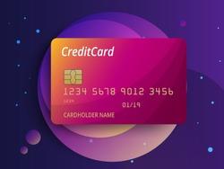 Templates of credit cards design. Vector plastic credit card or debit card