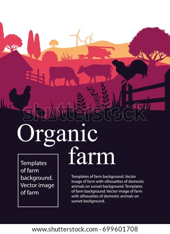 templates of farm background