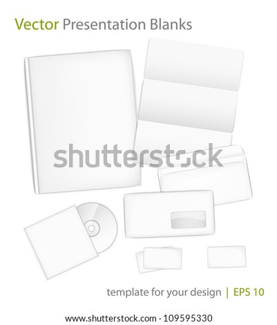 Templates set of corporate identity for presentation. Vector illustration eps10