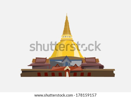 temple in thailand   vector