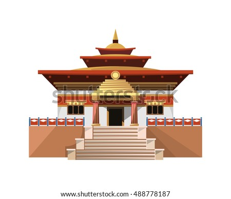 temple of heaven icon isolated