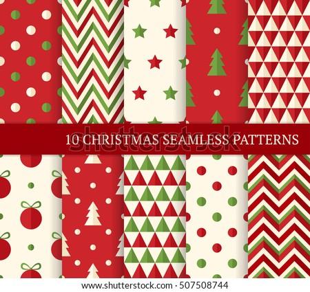 Christmas Polka Dot Pattern Background - Download Free Vector Art ...