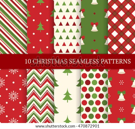 Geometrical Christmas Patterns Download Free Vector Art Stock Inspiration Christmas Patterns
