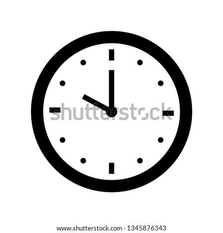 ten o'clock icon outline vector Сток-фото ©