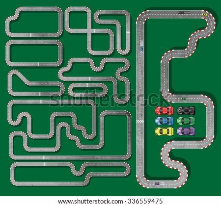 ten tracks circuit whith racing