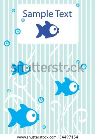 Tender background with fish and place for text