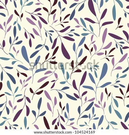 Tender hand drawn twigs vector seamless pattern
