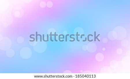 tender pastel bokeh background