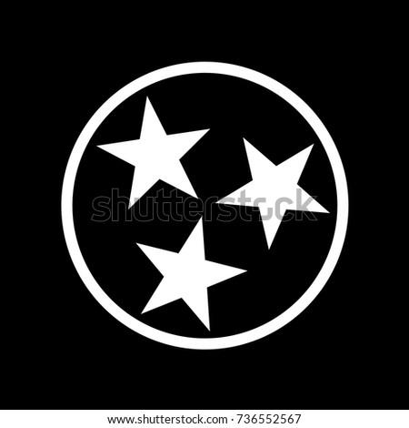 Tennessee Flag T-Shirt Design Black. Vector.
