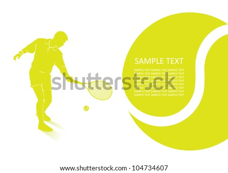 Tennis background - vector illustration