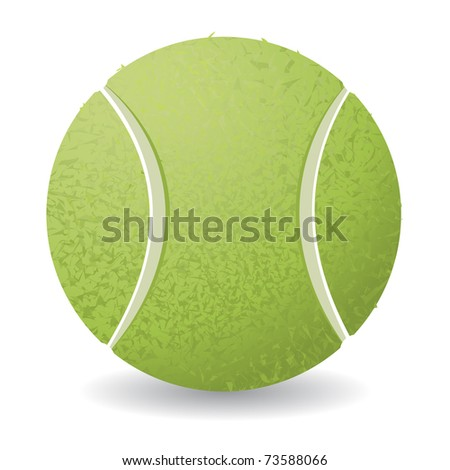 Tennis ball isolated over white background, vector illustration