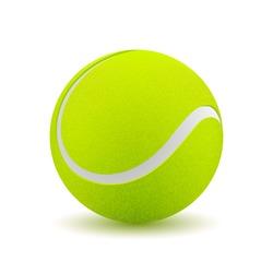 Tennis ball on white background. Vector illustration