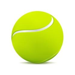 Tennis ball on white. Vector