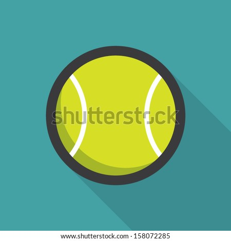 Stock Photo Tennis ball retro poster, sport and recreation concept
