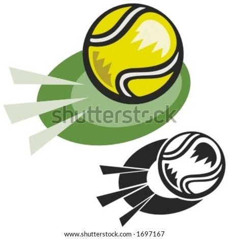 Tennis ball. Vector illustration - stock vector