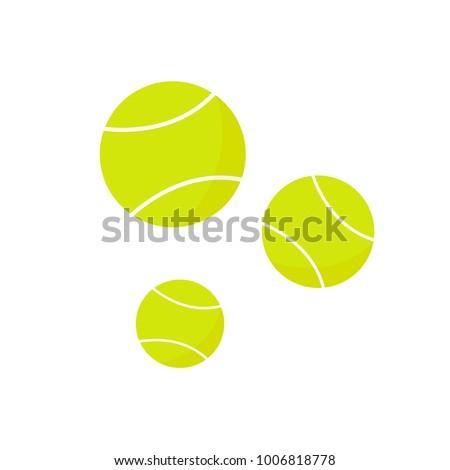 tennis balls icon on the white