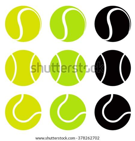 tennis balls  silhouette vector ...