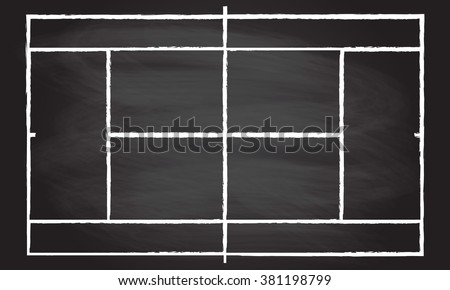 tennis court or field isolated