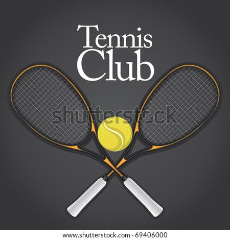 Tennis Design Element Set 1 Vector Drawing