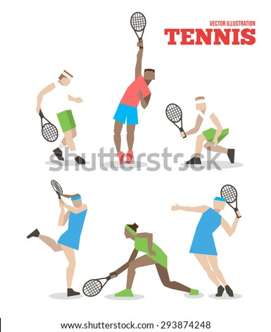 tennis figure peoples with