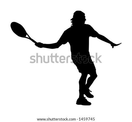 Tennis forehand - illustration/original vector file