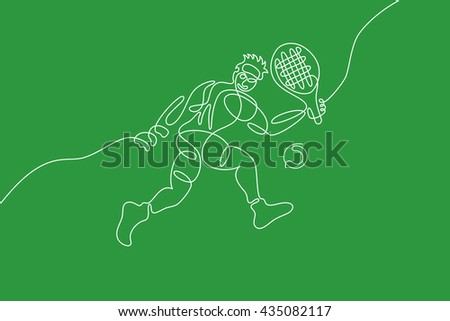 tennis graphic using single