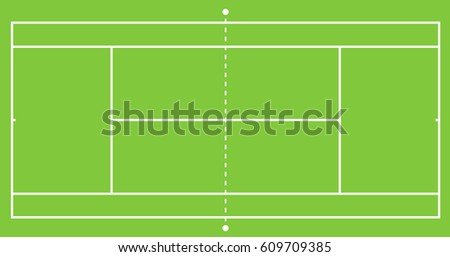 tennis green grass court