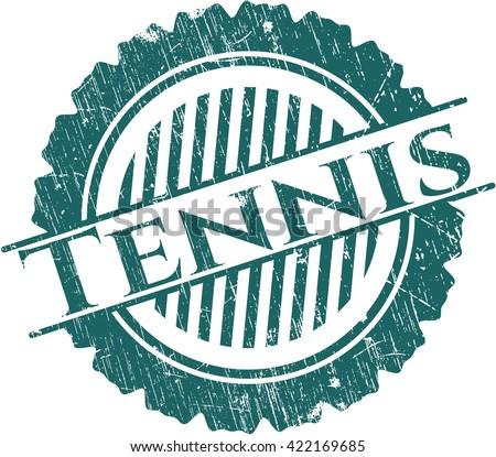 Tennis grunge seal