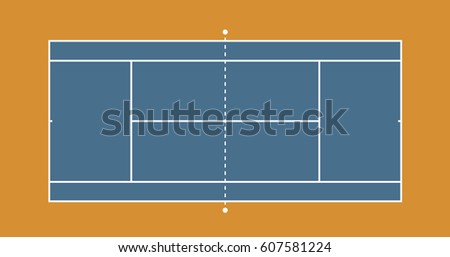 Royalty Free Tennis Court Top Down Aerial View 608707718 Stock
