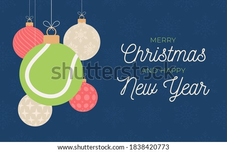 tennis holiday banner merry