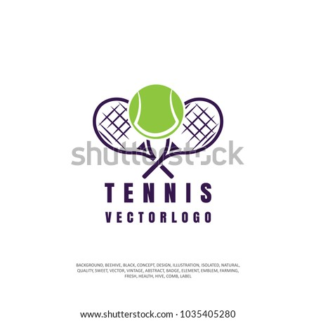 tennis icon. racket, vector sport game logo. Tennis ball