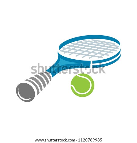 tennis icon. racket, vector sport game. Tennis ball - fitness, activity vector design