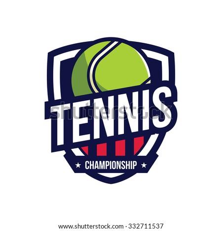 tennis logo  american logo sport