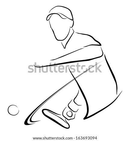 tennis man player symbol