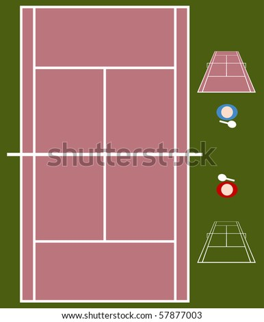 Tennis Match - stock vector