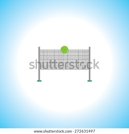 tennis net with ball vector