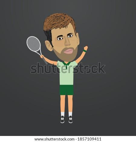 tennis player celebration