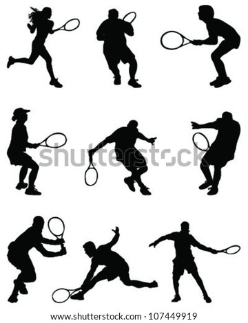 tennis players illustration