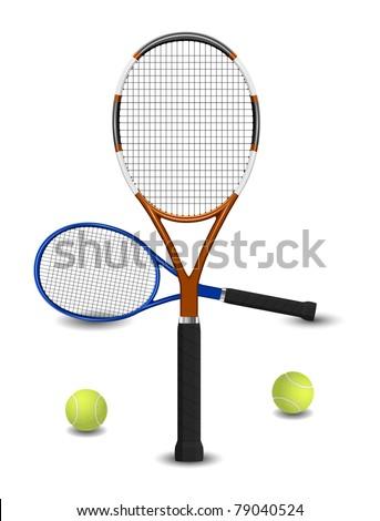 Tennis racket and ball set eps8