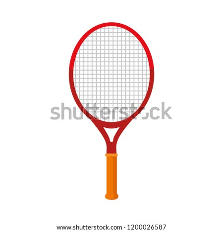 tennis racket isolated icon