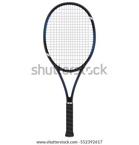 Tennis racket, vector design