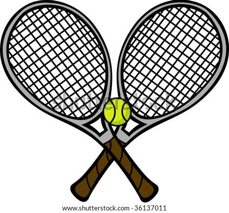 Tennis racket logos