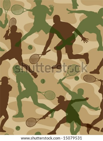 tennis  - seamless wallpaper (vector)abstract