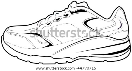 Tennis shoe isolated on a white background.